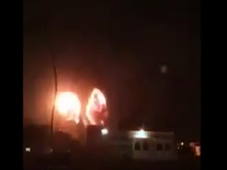 الاحتلال الإسرائيلي يقصف موقع الإدارة المدنية شمال قطاع غزة (فيديو)