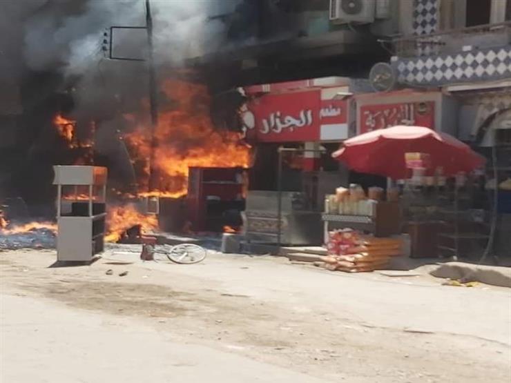 إصابة 17 شخصًا خلال حريق مطعم في المنيا