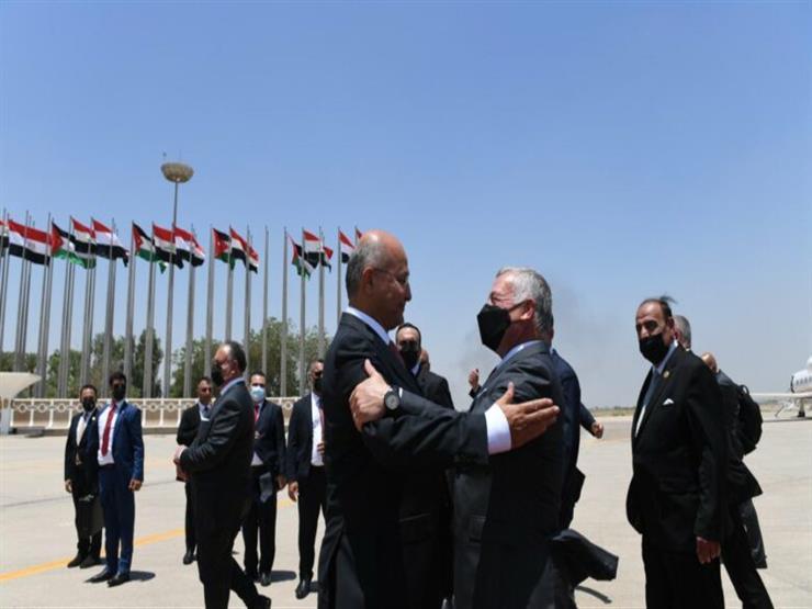 الرئيس العراقي يستقبل ملك الأردن للمشاركة بالقمة الثلاثية