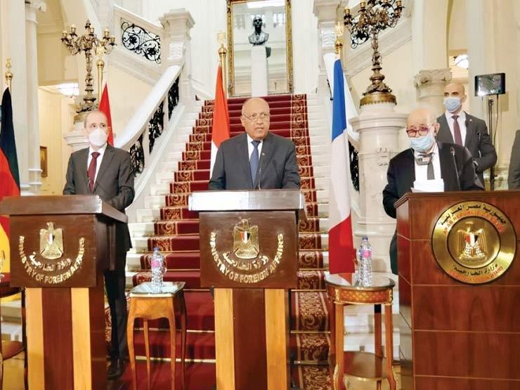 مصر وفرنسا والأردن يشددون على أهمية وقف جميع الإجراءات الأحادية التي تقوض حل الدولتين