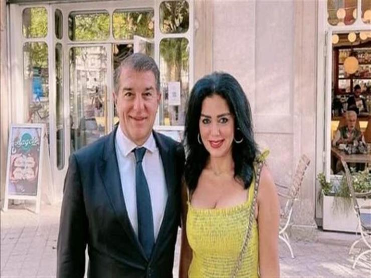 رانيا يوسف تكشف كواليس صورتها مع رئيس نادي برشلونة