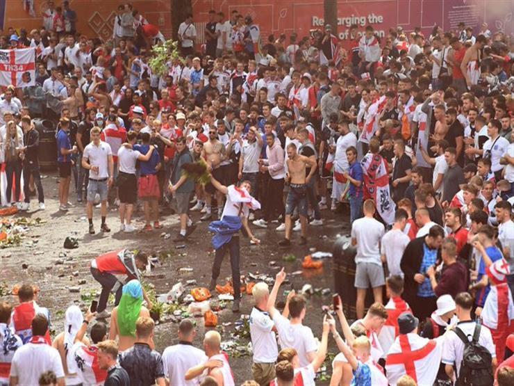 """اعتقالات وإصابات"".. شغب جماهير إنجلترا في نهائي اليورو (فيديو)"