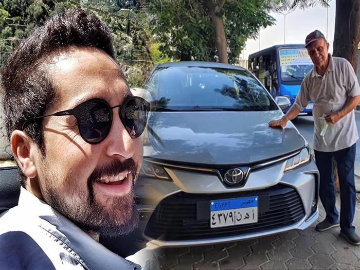 """أحمد الوكيل يفاجئ والده بسيارة """"تويوتا كورولا"""" جديدة.. فيديو"""