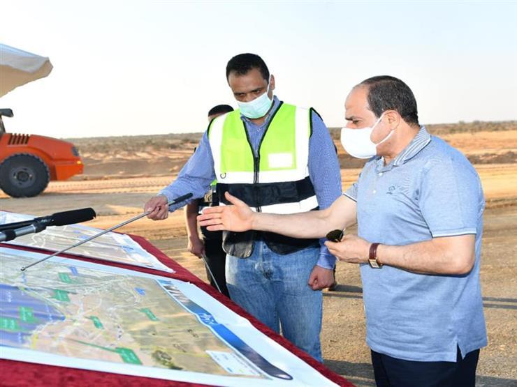 فيديو.. شاهد جولة الرئيس السيسي لتفقد مشروعات تطوير شبكة محاور وطرق الساحل الشمالي