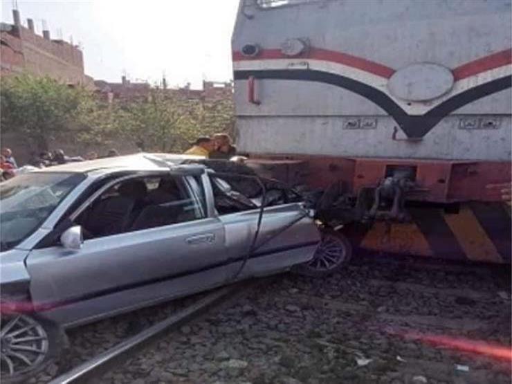 أول تعليق من السكة الحديد بشأن اصطدام سيارة بقطار ومصرع 3 بالدقهلية