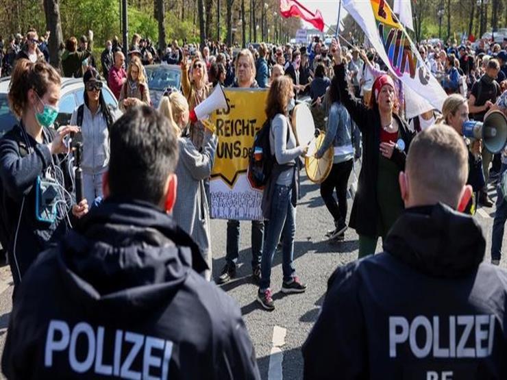 مظاهرات في برلين احتجاجًا على سياسة كورونا