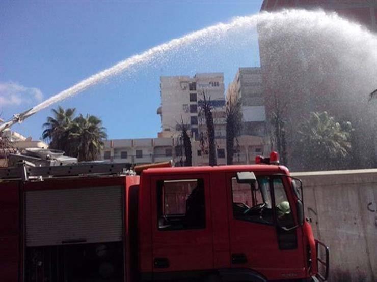 5 عربات إسعاف وسيارات إطفاء لإخماد حريق بمصنع الألومنيوم في قنا