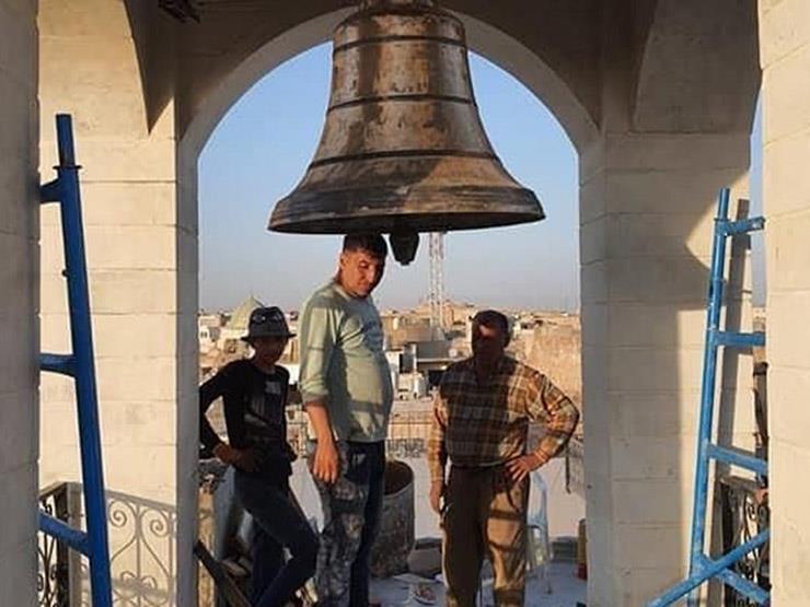 """للمرة الأولى منذ ٧ سنوات.. العراق: قرع جرس كنيسة خرّبها """"داعش'' بالموصل"""
