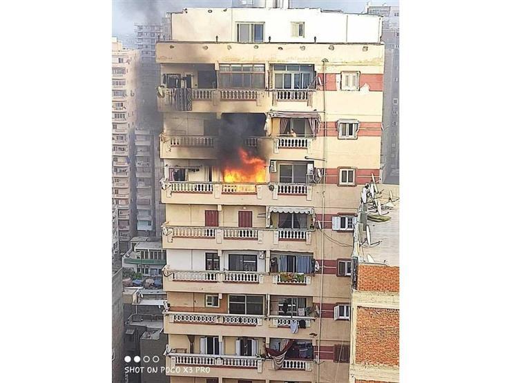 أحدهما قفز من الطابق الـ17.. مصرع شخصين في حريق شقة بالإسكندرية