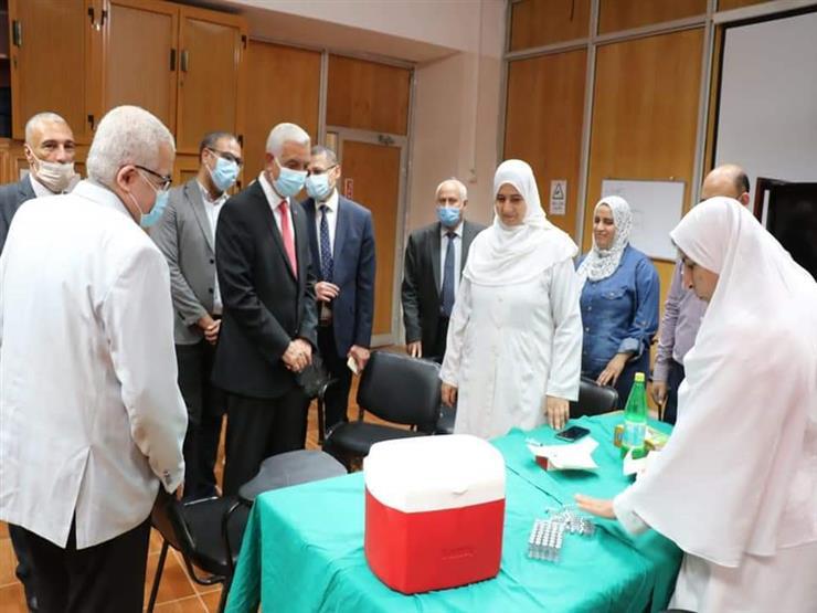 بدء تطعيم طلاب جامعة المنوفية ضد فيروس كورونا