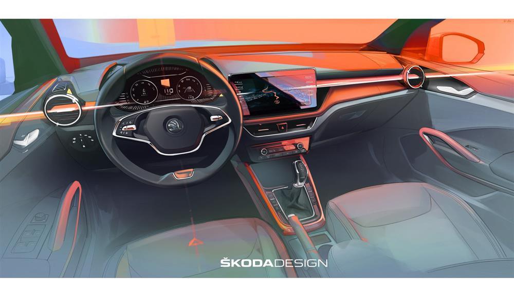 سكودا تستعرض التصميم الداخلي لفابيا الجديدة