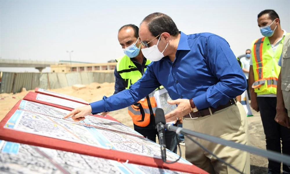 الرئيس يتفقد أعمال تطوير محاور شرق القاهرة