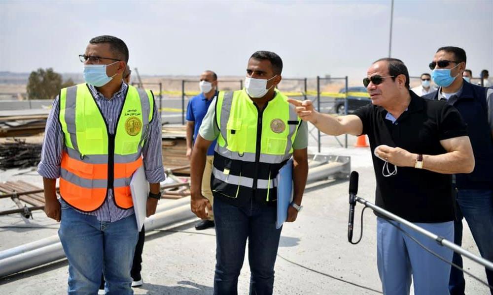 الرئيس يتفقد طرق ومحاور القاهرة (1)