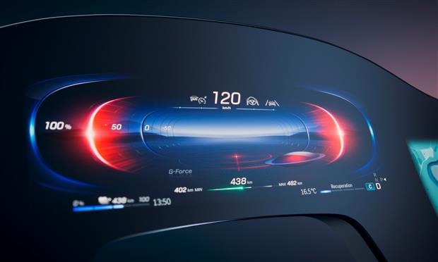 مرسيدس تكشف عن ملامح شاشتها الكبيرة في EQS الكهربائية