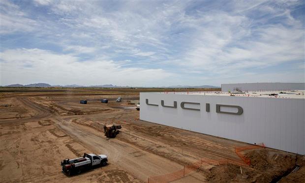 مصنع لوسيد بالولايات المتحدة الأمريكية