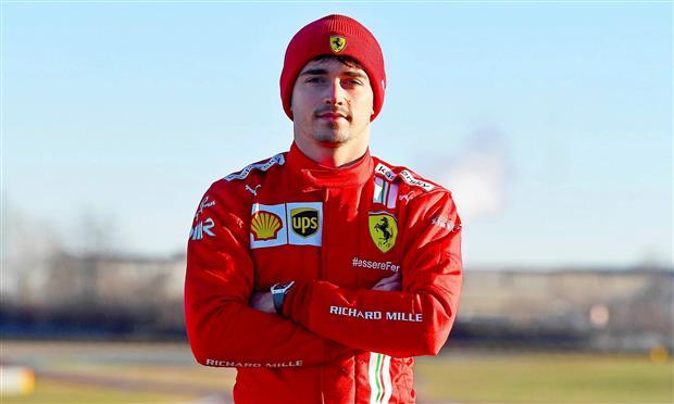تشارلز لوكليرك سائق فريق فيراري لسباقات الفورمولا-1