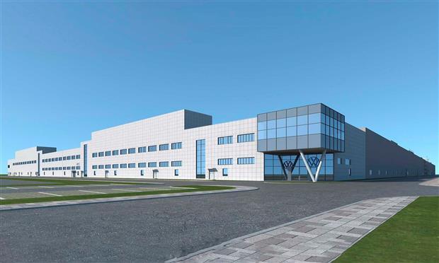 مخطط رسم مصنع فولكس فاجن في آنهوي الصينية