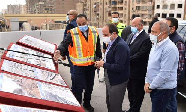 الرئيس يتفقد أعمال التطوير بمحاور شرق القاهرة
