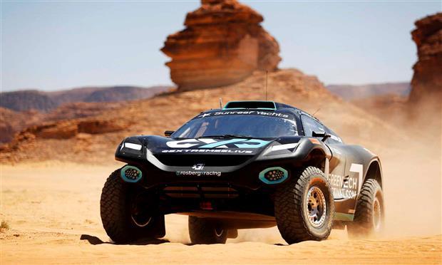إحدى سيارات بطولة إكستريم إي الكهربائية