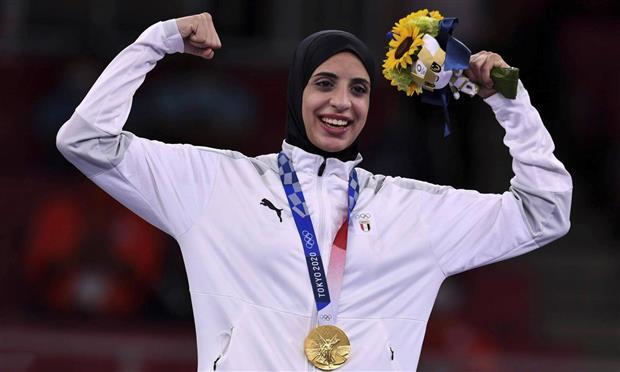 البطلة الأوليمبية فريال عبد العزيز