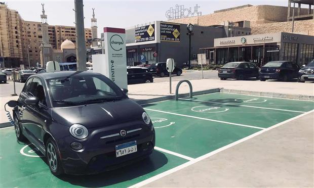 محطة شحن سيارات كهربائية بمنطقة القطامية