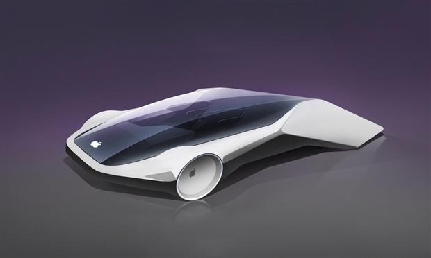 تصميم تخيلي لسيارة آبل الكهربائية
