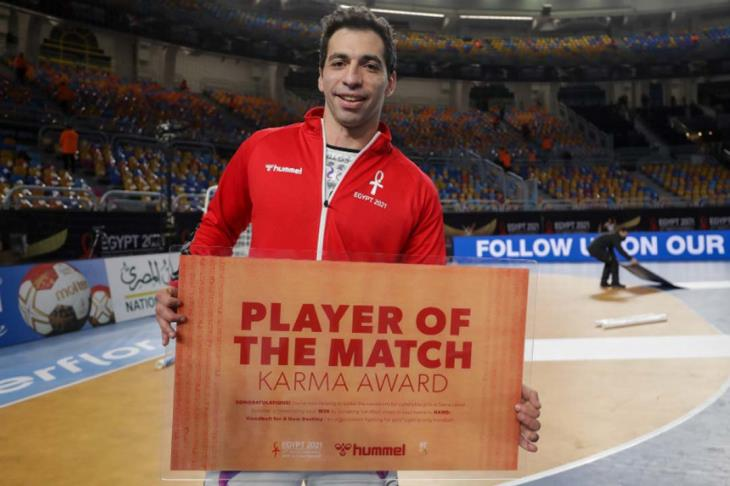 الأحمر أفضل لاعب في مباراة الاتحاد الروسي بمونديال اليد