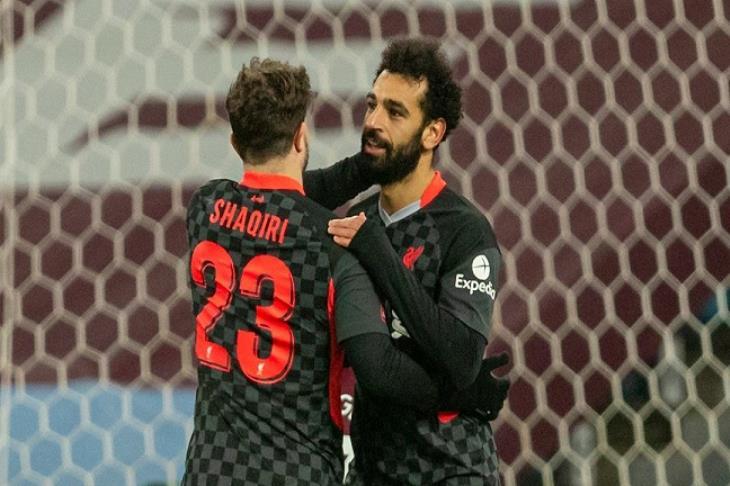 صلاح يقود ليفربول لسحق شباب أستون فيلا في كأس الاتحاد الإنجليزي