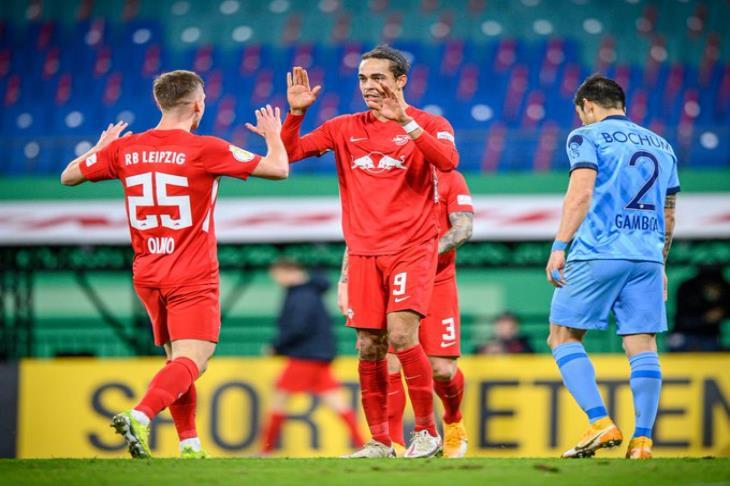 تأهل لايبزج وفولفسبورج لدور الثمانية من كأس ألمانيا