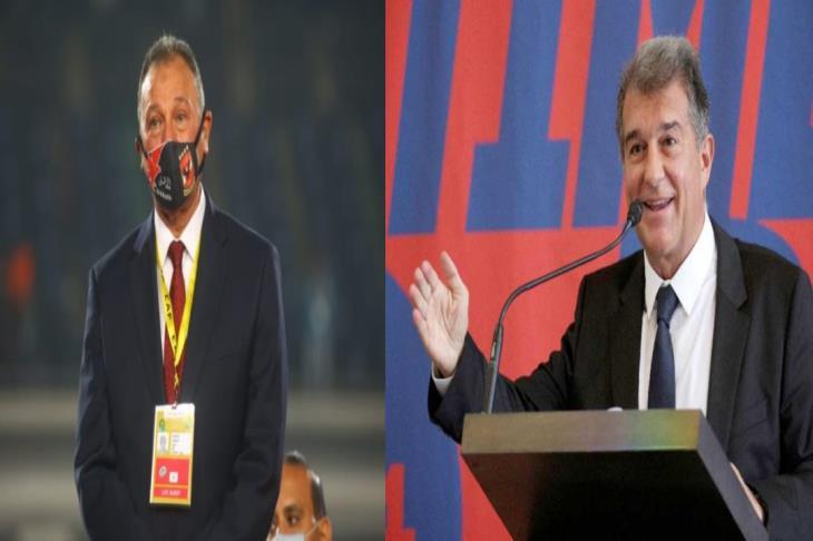 الخطيب يهنئ لابورتا على عودته لرئاسة برشلونة