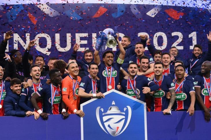 باريس سان جيرمان يفوز على موناكو ويتوج بكأس فرنسا