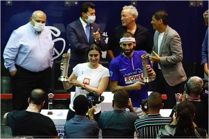 محمد الشوربجي بطلاً للرجال ونور الشربيني للسيدات في بطولة الجونة للأسكواش