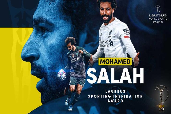 رسميا.. محمد صلاح يفوز بجائزة لوريوس العالمية للإلهام الرياضي