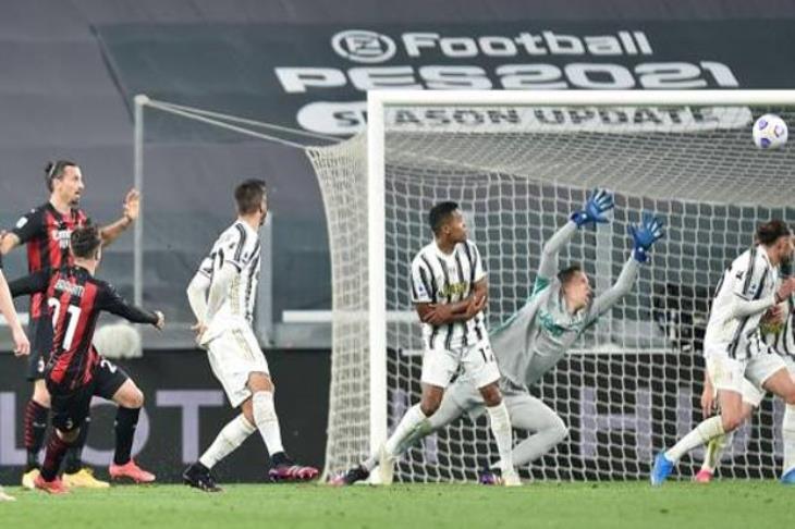 ميلان يكتسح يوفنتوس في الدوري ويهدد تأهله لدوري الأبطال (فيديو)