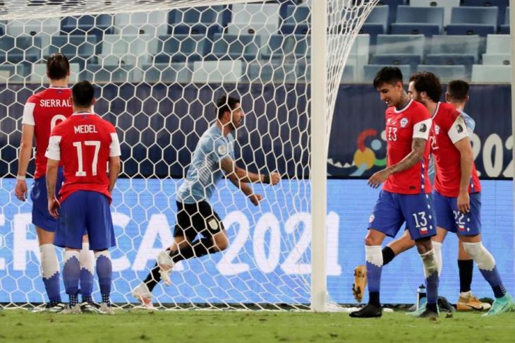 أوروجواي تكسر صيامها وتتعادل مع تشيلي في كوبا أمريكا (فيديو)
