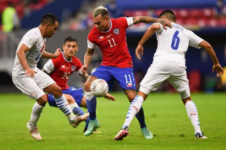 باراجواي تهزم تشيلي وتتأهل لربع نهائي كوبا أمريكا